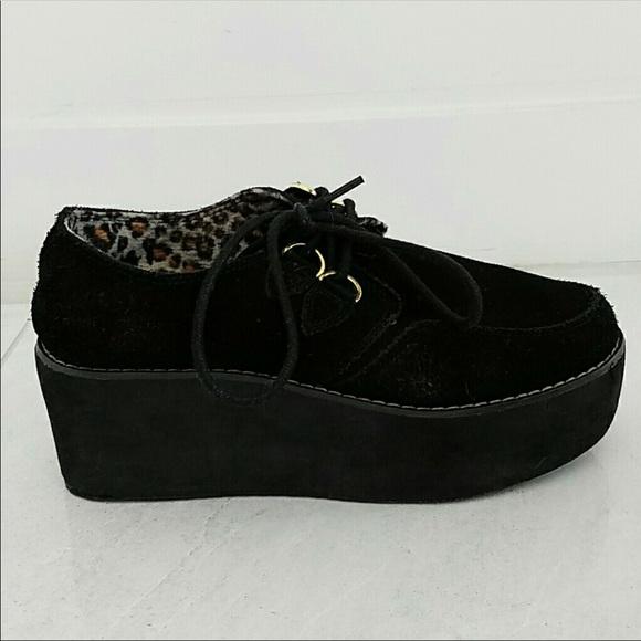 YRU Shoes   Yru Black Suede Platform